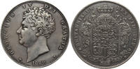 Crown 1826 Great Britain King George IVth, Crown (5 Shillings) Septimo Rare. Nice light even grey tone. aEF  /  EF