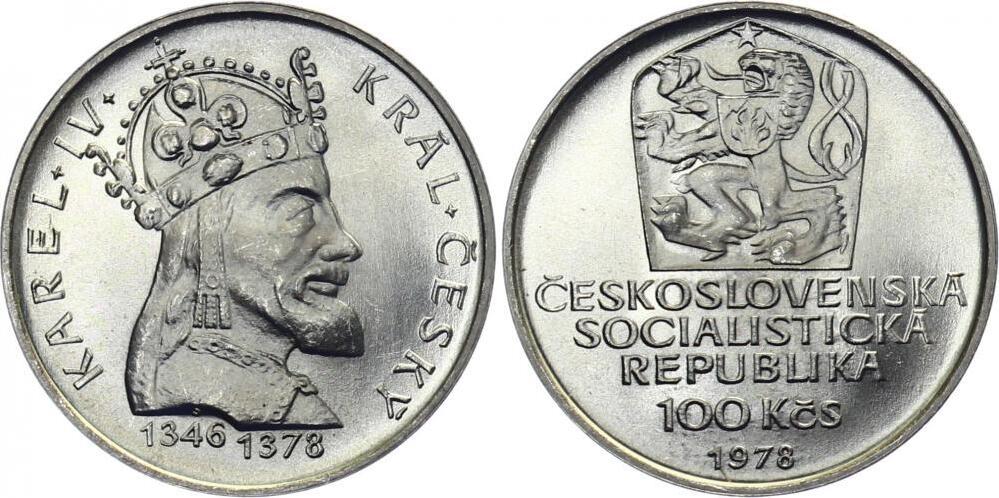 100 Kronen 1978 Cssr Republik 1961 1990 Cssr 100 Kč 1978 König