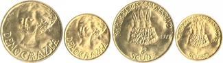 Mint Set: 1 Scudi und 1 Scudo d´oro 1977 San Marino Demokratie st, im Originaletui mit Zertifikat