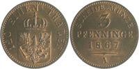 3 Pfennige 1867 A Brandenburg in den Marke...