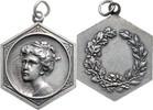 Medaille, achteckig, versilbert o.J. Jugen...
