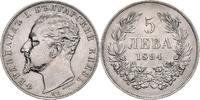 5 Lewa 1894 KB Bulgarien Ferdinand I. als ...