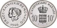 10 Francs 1966 Monaco Rainier III. 1949-20...