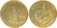 Peso, vergoldet 1990 Kuba 500 Jahrfeier de...