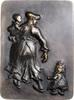 Bronzeguss, einseitig o.J. Kunstguss Mutte...