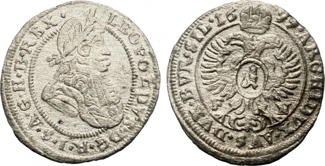 cff2c2201 1 kreuzer 1699 Austria Leopold I., F-N Oppeln VF   MA-Shops