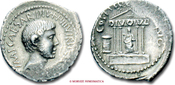 Denarius / Denar 36 b.C. Roman Republic / RÖMISCHE REPUBLIK OCTAVIAN gutes Sehr Schön
