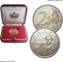 2 Euro 2016 Monaco Monte Carlo / Albert II 150 Jahrestag der Gründung Monte Carlos Polierte Platte