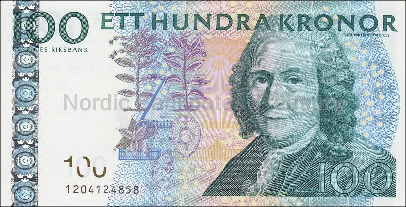 Schweden 100 Kronor Kronen 2003 I Ma Shops