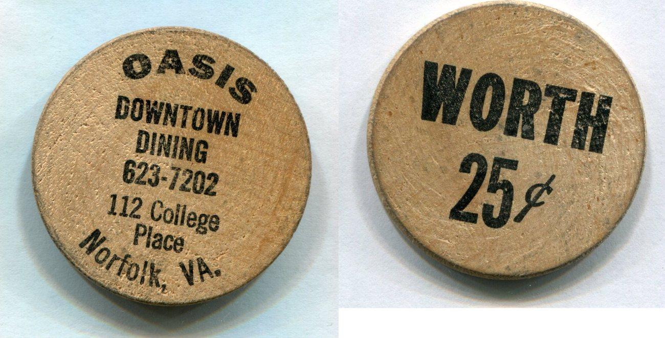Wooden Nickel Usa Norfolk Va