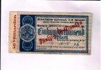 50 Milliarden Mark, o.D. Niedersachsen/Bodenwerder,  III  165,00 EUR148,50 EUR  +  7,00 EUR shipping