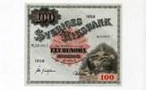 100 Kronen/Kronor, 1958, Schweden,  III+,  60,00 EUR  +  7,00 EUR shipping