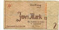 2 Mark 1940, Litzmannstadt,  stark gebraucht,