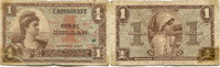 1 Dollar (1954) USA, Militärgeld, stark ge...