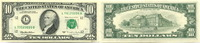 10 Dollars 1995 USA,  Unc