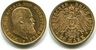 20 Mark 1900F Württemberg, Wilhelm II.1891...
