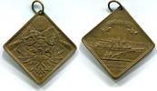 Klippenförmige Br.Medaille 1894 Mainz, XI....