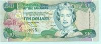 10 Dollars 1996 Bahamas,  II-III