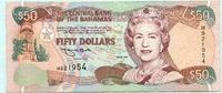 50 Dollars 1996 Bahamas,  III