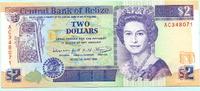 2 Dollars 1991 Belize,  Unc