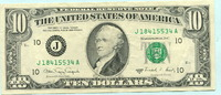 10 Dollars 1988 USA,  II