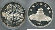 100 Yuan 1989 China, Panda 12 Unzen, PP