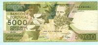 5000 Escudos 28.10.1988 Portugal,  III  39,50 EUR  +  7,00 EUR shipping