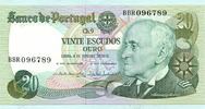 20 Escudos 04.10.1978 Portugal,  Unc  5,00 EUR  +  7,00 EUR shipping