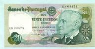 20 Escudos 13.09.1978 Portugal,  Unc  5,00 EUR  +  7,00 EUR shipping