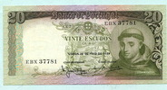 20 Escudos 26.05.1964 Portugal,  Unc  8,00 EUR  +  7,00 EUR shipping