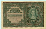 500 Marek 1919 Polen,  III  5,00 EUR  +  7,00 EUR shipping