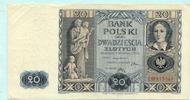 20 Zlotych 1936 Polen,  II  9,50 EUR  +  7,00 EUR shipping