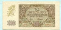 10 Zlotych 1940 Polen,  Unc  12,00 EUR  +  7,00 EUR shipping