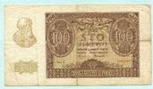 100 Zlotych 1940 Polen,  IV  5,00 EUR  +  7,00 EUR shipping