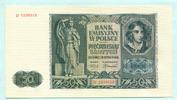 50 Zlotych 1941 Polen,  Unc  8,00 EUR  +  7,00 EUR shipping
