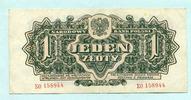 1 Zloty 1944 Polen,  III  9,50 EUR  +  7,00 EUR shipping