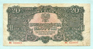 20 Zlotych 1944 Polen,  III-  15,00 EUR  +  7,00 EUR shipping