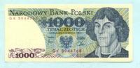 1000 Zlotych 1.6.1982 Polen,  Unc  2,00 EUR  +  7,00 EUR shipping