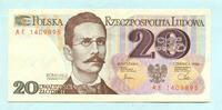 20 Zlotych 1.6.1982 Polen,  Unc  2,00 EUR  +  7,00 EUR shipping