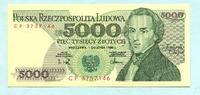5000 Zlotych 1.12.1988 Polen,  Unc  3,00 EUR  +  7,00 EUR shipping