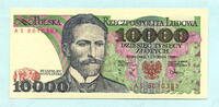 10000 Zlotych 1.12.1988 Polen,  Unc  7,00 EUR  +  7,00 EUR shipping