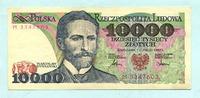 10000 Zlotych 1.2.1987 Polen,  II  5,00 EUR  +  7,00 EUR shipping