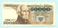 50000 Zlotych 1.2.1989 Polen,  Unc  19,50 EUR  +  7,00 EUR shipping