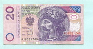 20 Zlotych 25.3.1994 Polen,  II  7,50 EUR  +  7,00 EUR shipping