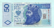 50 Zlotych 25.3.1994 Polen,  II  17,50 EUR  +  7,00 EUR shipping