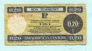 20 Cents 1979 Polen, Bon Towarowy, gebraucht  5,00 EUR  +  7,00 EUR shipping