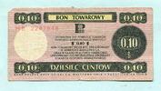 10 Cents 1979 Polen, Bon Towarowy, gebraucht  6,00 EUR  +  7,00 EUR shipping