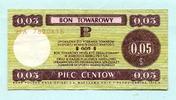 5 Cents 1979 Polen, Bon Towarowy, gebraucht  6,00 EUR  +  7,00 EUR shipping