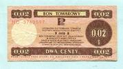 2 Cents 1979 Polen, Bon Towarowy, gebraucht  4,00 EUR  +  7,00 EUR shipping