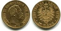 10 Mark 1876H Hessen, Ludwig III.1848-1877...